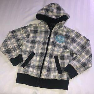 fleece lined sweater with hood size 6-8